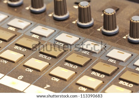 close up shot of volume control board