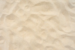 Close-up Shot. Yellow beach sand texture as background.