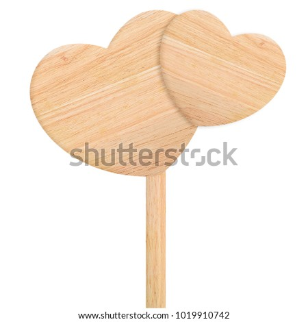 close up sign wooden heart  for valentines day #1019910742