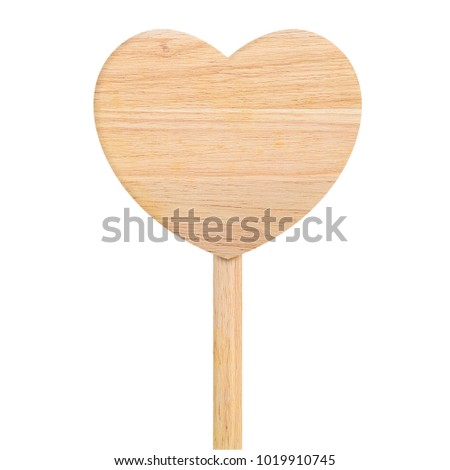 close up sign wooden heart  for valentines day #1019910745