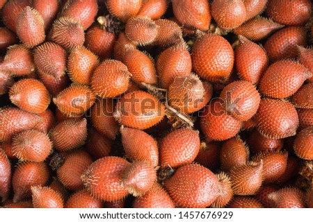 Close-up snake fruit background. Snake fruit or Salacca zalacca is a tropical fruit that has a sweet and sour taste.