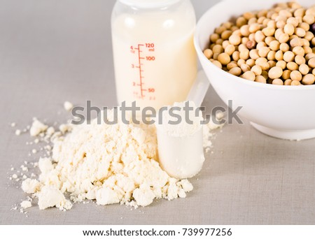 Close up Soy milk powder for baby