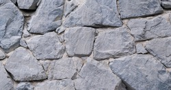 Close up stone and mortar wall for background