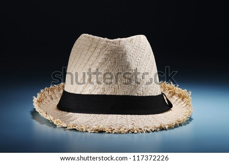 Close up Straw woven sun hat