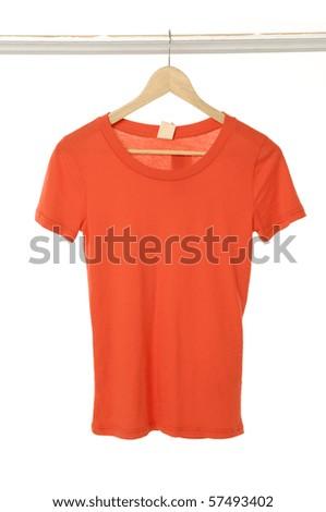 Close up summer t-shirts hanger