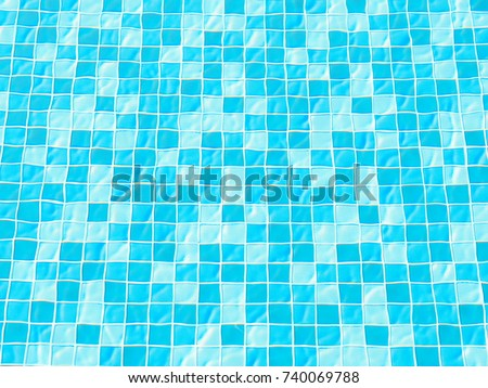 Close up swimming pool titles texture. #740069788