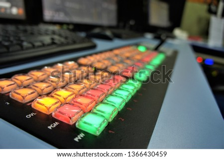 Close-up switch on the broadcast control panel.