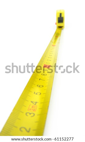 Close-up tape measure,
