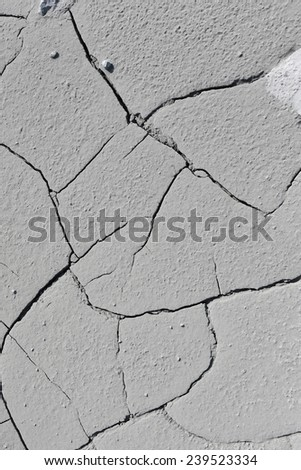 close-up texture isolated gray cracked earth in natural lighting