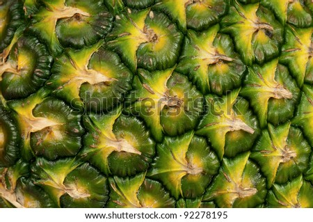 Close up texture of fresh ripe pineapple background