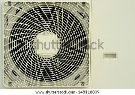 Close up the air compressor