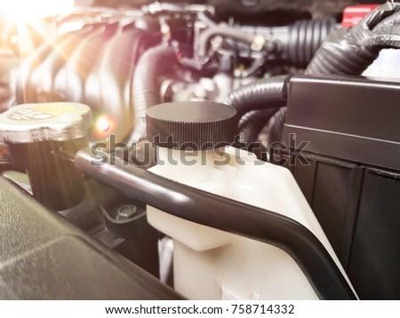 close up the car radiator, engine car #758714332