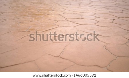 close-up. The pavement of red stone. modern tile