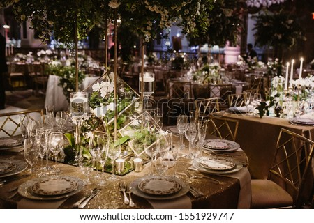 Close up the set of table in some romantic place Foto d'archivio ©