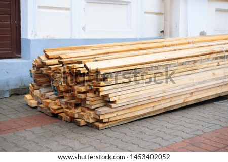 Close up timber on the street