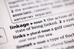 Close up to the dictionary definition of Linkage