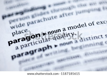 Close up to the dictionary definition of Paragon Zdjęcia stock ©