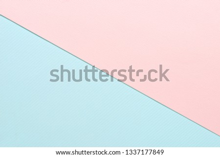 Close up two layers of pastel striped paper texture, pink and blue for background.  Two pastel striped paper #1337177849