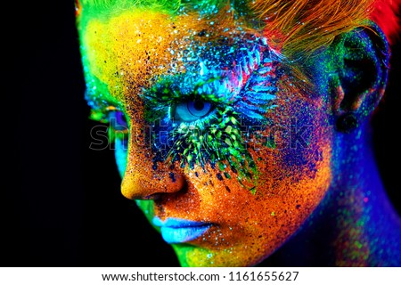close up UV portrait  #1161655627