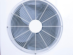 Close up ventilation fan of air conditioner