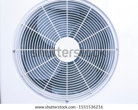 Close up ventilation fan of air conditioner stock photo