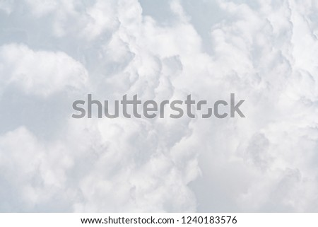 Close up view of a soft gray fluffy clouds as  background, texture (abstract)