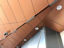 close up view of aluminium composite ceiling