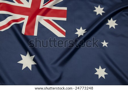 Close up view of an Australian flag.