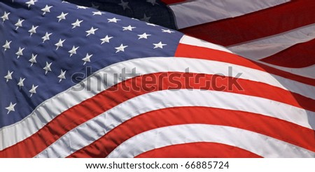 Close-up view of an US-american flag 02
