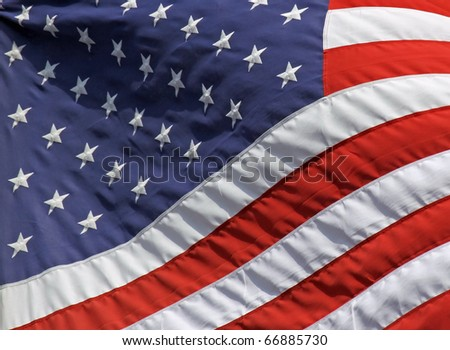 Close-up view of an US-american flag 01