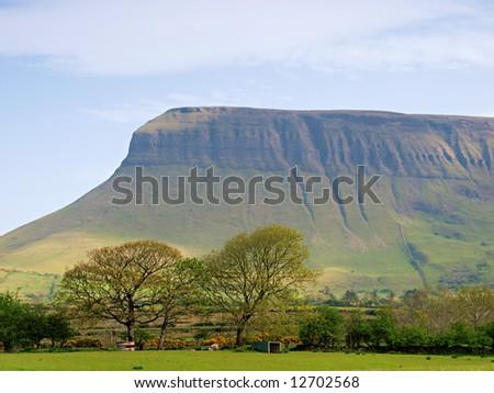 close up view of Benbulben, Co.Sligo, Ireland