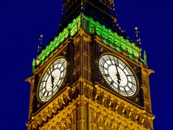 Close up view of clock tower Big Ben