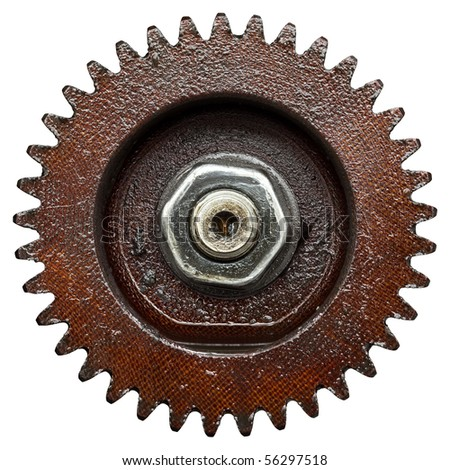 close up view of gear from old mechanism