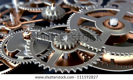 close up view of gears