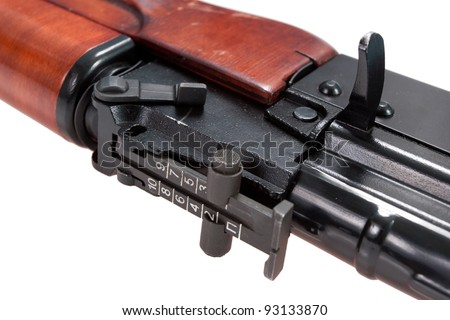close up view of kalashnikov assault rifle