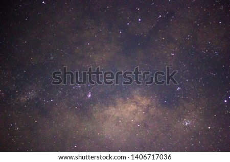 Close up view of Milky-way galaxy