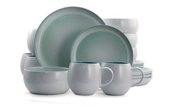 close up view of nice cookware set on white background, kitchenware set. Grey cookware set, Teacup Set