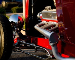 Close Up View of Old Hot Rod