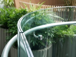 close up view of out door laminated glass