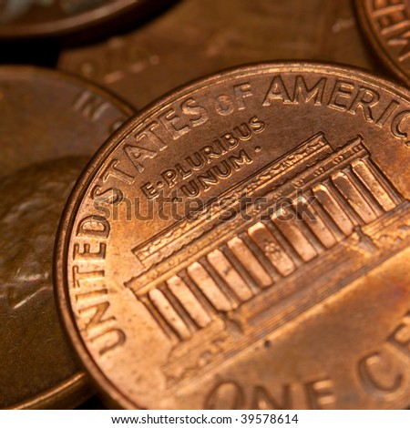 Close up view of the coins background