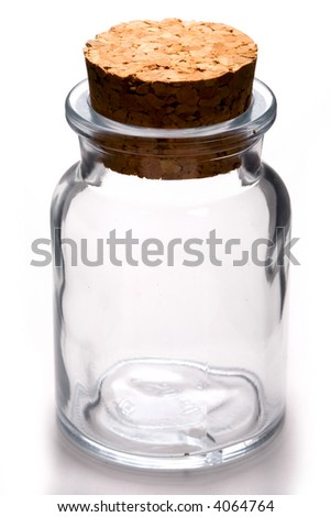 Close up view of the empty jar