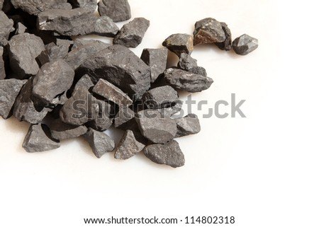 Close-up view of the iron ore