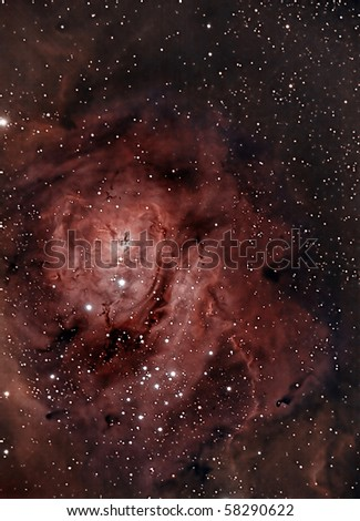 Close Up View of the Lagoon Nebula