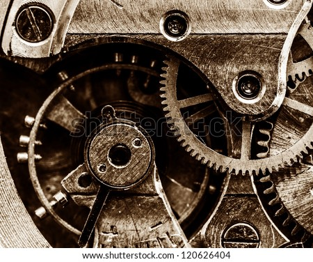 close up view of vintage clock...