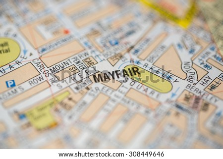 Map with pin point of London in England Images and Stock