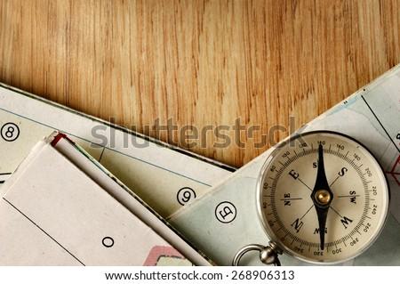 close up vintage compass...
