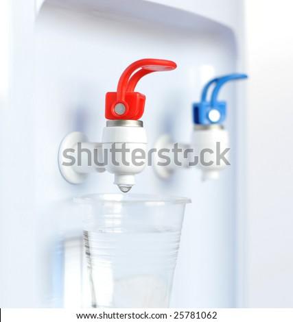 Close up water dispenser