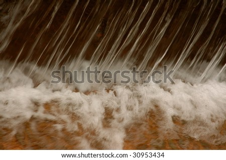close up waterfall time lapse - stock photo