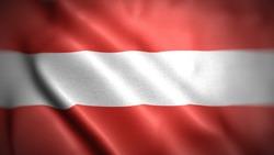 close up waving flag of Austria. flag symbols of Austria.