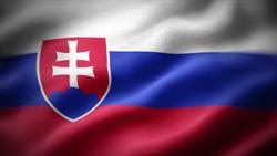close up waving flag of Slovakia. flag symbols of Slovakia.